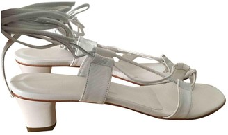 Martiniano White Leather Sandals