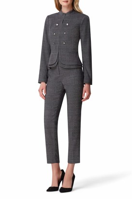 Tahari ASL Women's Plaid Double Peplum Jacket