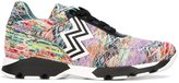 Missoni jacquard knit sneakers - women - Leather/Polyester/rubber - 39