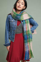 Anthropologie Mattie Plaid Scarf