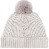 N.Peal fur bobble hat