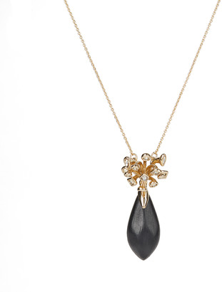 Alexis Bittar Crystal Burst Drop Pendant Necklace