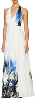 Milly Georgina Silk Print Maxi Gown