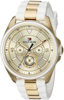 Tommy Hilfiger Women's 'SOPHISTICATED SPORT' Quartz Silver and and Silicone Casual Watch, Color:White (Model: 1781772)