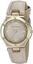 Anne Klein Women's AK/2112TNTN Gold-Tone and Tan Strap Watch