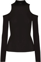 Balmain Cutout Stretch-jersey Top - Black