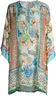 Johnny Was Bayhill Silk Kimono Tunic