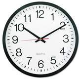 """Universal 12"""" Round Wall Clock White/Black"""