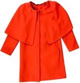 MSGM Orange Wool Coats