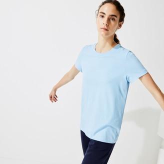 Lacoste Women's SPORT Logo Print Organic Cotton Tennis T-shirt