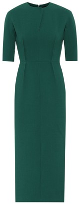 Emilia Wickstead Exclusive to Mytheresa Trista wool midi dress