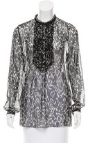 Elie Tahari Printed Long Sleeve Top