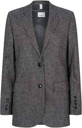 Burberry Wool-Cashmere Tailored Jacket