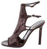 Tamara Mellon Python Multistrap Sandals
