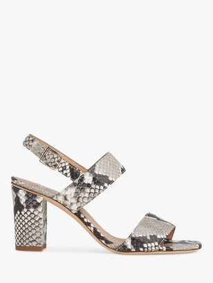 LK Bennett Rhiannon Block Heel Sandals, White/Grey
