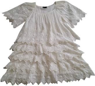 American Retro White Cotton Dresses