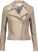A.L.C. Syd Lace-Up Suede Biker Jacket