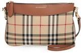 Burberry 'Peyton - Horseferry Check' Crossbody Bag - Brown