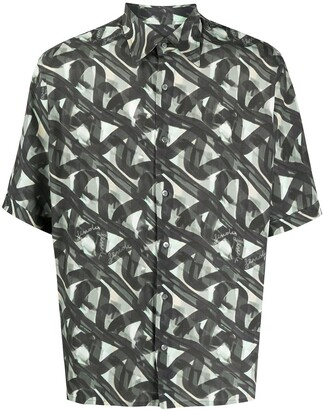 Fendi Brushstroke Short-Sleeve Shirt