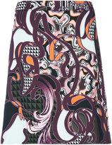 Versace Baroccoflage mini skirt