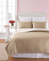Martha Stewart Collection Cotton Basket Stitch Tan Twin Quilt