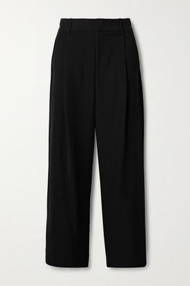 Vince Pleated Crepe Wide-leg Pants