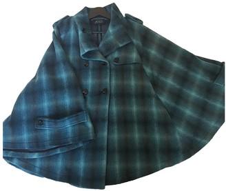 GUESS Blue Wool Coat for Women