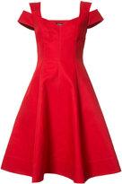 Paule Ka flared dress - women - Cotton - 40
