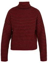 Lanvin Roll-neck Striped Wool-blend Sweater