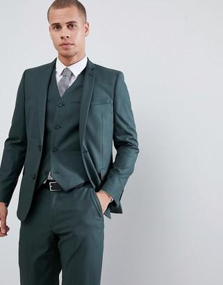Asos DESIGN slim suit jacket in forest green