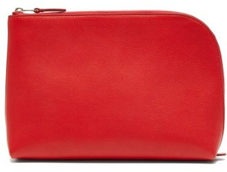 The Row Square Pochette Medium Leather Clutch - Womens - Red