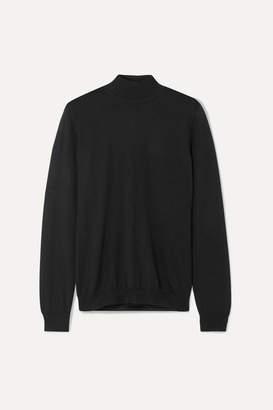 Tom Ford Cashmere And Silk-blend Turtleneck Sweater - Black