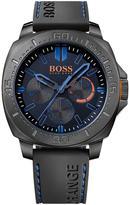 HUGO BOSS Blue Dial Black Rubber Strap Gents Watch