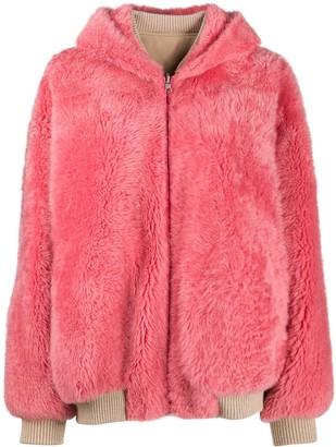 Cara Mila Fur Bomber Jacket