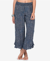 Volcom Juniors' Cropped Ruffle-Detail Pants