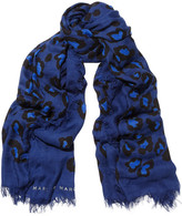 Marc by Marc Jacobs Sasha leopard-print modal and cashmere-blend scarf
