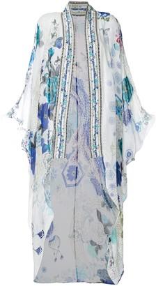Camilla White Moon Kimono Collar jacket