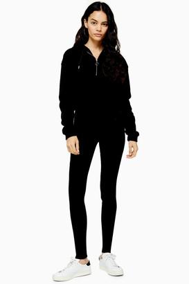 Topshop Womens Tall Pure Black Wash Jamie Jeans - Black