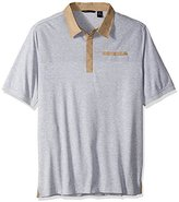 Sean John Men's Big and Tall Short Sleeve Textured Polo