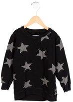 Nununu Boys' Star Print Crew Neck Sweatshirt