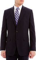 JCPenney Stafford Executive Super 130 Navy Pinstripe Suit Jacket - Classic