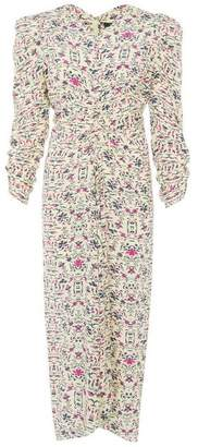 Isabel Marant Albi Printed Silk Midi-Dress