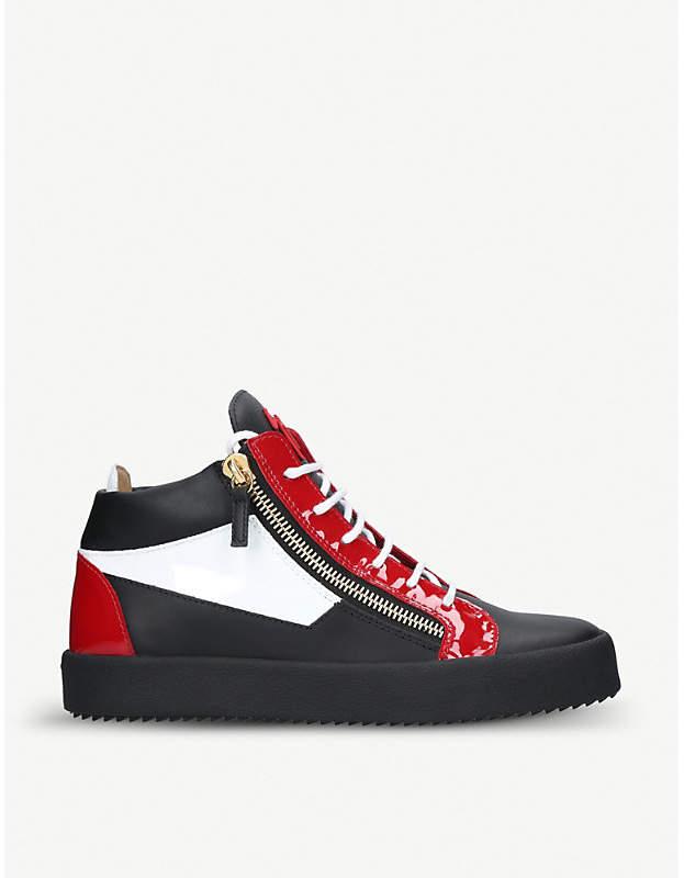 Giuseppe Zanotti Colour block leather mid-top trainers