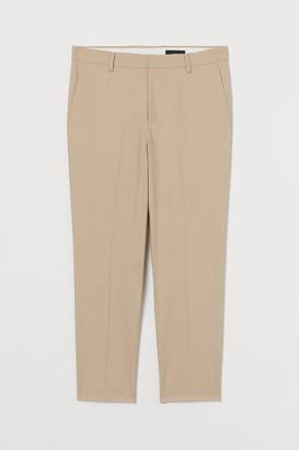 H&M Slim Fit Suit Pants - Beige