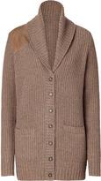 Ralph Lauren Tumbell brown shawl cardigan