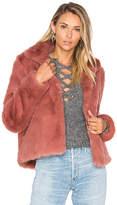 Lovers + Friends x REVOLVE Mia Faux Fur Jacket in Mauve