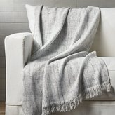 Crate & Barrel Dominic Grey Throw