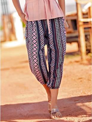 M&Co Tribal print cropped trousers