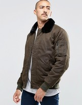 Carhartt WIP Stanley Bomber Jacket With Faux Fur Collar