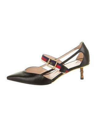 Gucci 2017 Sylvie Web Accent Pumps Black